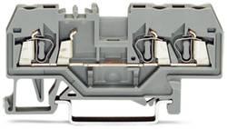 Borne de passage WAGO 280-681 5 mm ressort de traction Affectation des prises: L gris 100 pc(s)