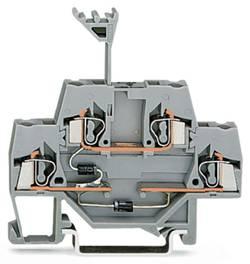 Borne à diode à 2 étages WAGO 280-941/281-492 5 mm ressort de traction Affectation des prises: L gris 50 pc(s)