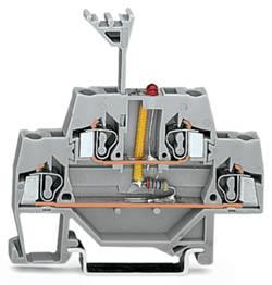 Borne LED à 2 étages WAGO 280-943/281-413 5 mm ressort de traction Affectation des prises: L gris 50 pc(s)