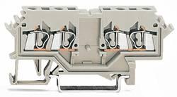 Bloc de jonction traversant WAGO 280-989 5 mm ressort de traction Affectation des prises: L gris 100 pc(s)