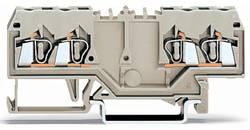 Borne de passage WAGO 280-995 5 mm ressort de traction Affectation des prises: L gris 100 pc(s)
