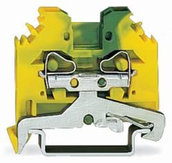 Borne pour conducteur de protection WAGO 281-107 6 mm ressort de traction Affectation des prises: terre vert-jaune 100 p