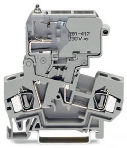 Borne à fusibles WAGO 281-622/281-417 8 mm ressort de traction Affectation des prises: L gris 50 pc(s)