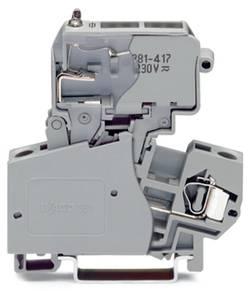 Borne à fusibles WAGO 281-613/281-417 10 mm ressort de traction Affectation des prises: L gris 50 pc(s)