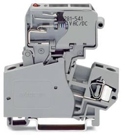 Borne à fusibles WAGO 281-623/281-542 10 mm ressort de traction Affectation des prises: L gris 50 pc(s)