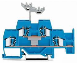 Bloc de jonction traversant à 2 étages WAGO 281-630 6 mm ressort de traction Affectation des prises: N bleu 50 pc(s)
