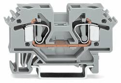 Bloc de jonction traversant WAGO 282-601 8 mm ressort de traction Affectation des prises: L gris 50 pc(s)