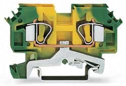 Borne pour conducteur de protection WAGO 282-607 8 mm ressort de traction Affectation des prises: terre vert-jaune 50 pc