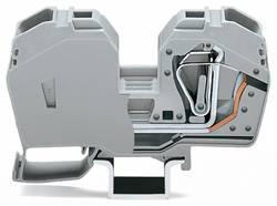 Borne de passage WAGO 285-635 16 mm ressort de traction Affectation des prises: L gris 15 pc(s)