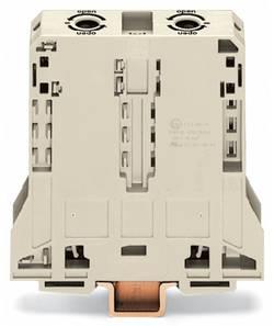 Bloc de jonction traversant WAGO 285-995 25 mm ressort de traction Affectation des prises: L gris 5 pc(s)