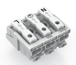 Borne de branchement secteur WAGO 294-4043 rigide: 0.5-1.5 mm² Nombre total de pôles: 3 blanc 500 pc(s)
