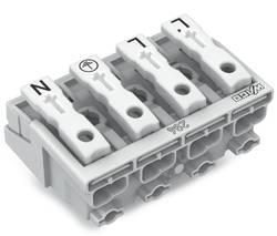 Borne de branchement secteur WAGO 294-5044 rigide: 0.5-1.5 mm² Nombre total de pôles: 4 blanc 500 pc(s)