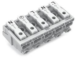 Borne de branchement secteur WAGO 294-4025 rigide: 0.5-1.5 mm² Nombre total de pôles: 5 blanc 250 pc(s)