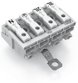 Borne de branchement secteur WAGO 294-4424 rigide: 0.5-1.5 mm² Nombre total de pôles: 4 blanc 500 pc(s)