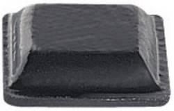 Pied d'appareil PB Fastener BS-20-CL-R-11 autocollant, carré clair (l x h) 10.2 mm x 2.5 mm 11 pc(s)