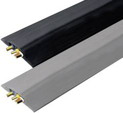 Protège-câbles caoutchouc noir Vulcascot VUS-009 Nombre de canaux: 2 Longueur 3000 mm 1 pc(s)