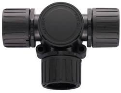 Distributeur en T Ø intérieur: 16 mm, 16 mm, 16 mm HellermannTyton HG16-T 166-24800 noir 1 pièce