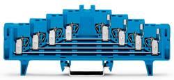 Borne de répartition WAGO 727-224/023-000 7.62 mm ressort de traction Affectation des prises: N bleu 50 pc(s)