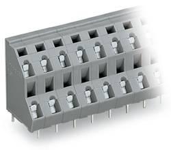 Bornier à 2 étages WAGO 736-552 2.50 mm² Nombre total de pôles 4 gris 133 pc(s)