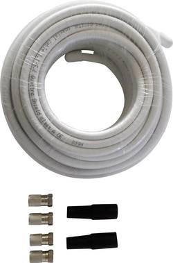 Kit de connexion satellite 4 fiches F mâles, 2 passe-fils en caoutchouc, 20 m de câble Wittenberg Antennen K-102941-10