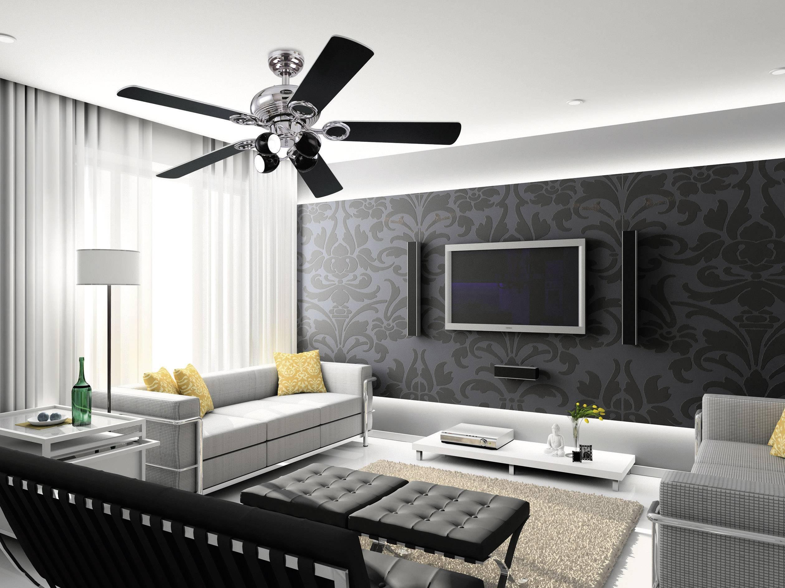 Ventilateur de plafond Westinghouse Helix Fusion Nombre de pales de rotor: 5 (Ø) 132 cm noir, blanc