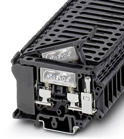 Bloc de jonction porte-fusible pour cartouche G Conditionnement: 50 pc(s) Phoenix Contact UK 6,3-HESILA 250 3004249