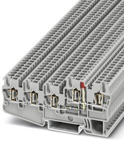 Bloc de jonction pour capteurs / actionneurs gris Conditionnement: 50 pc(s) Phoenix Contact STIO 2,5/4-3B/L-LA24RD/O-M 3