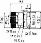 Connecteur à bride M12 avec bornier à vis série 713