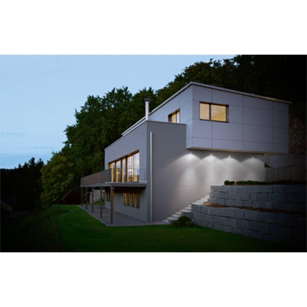 projecteur led ext rieur avec d tecteur de mouvements blanc lumi re du jour osram noxlite 8 w. Black Bedroom Furniture Sets. Home Design Ideas