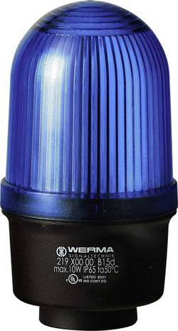 Témoin lumineux Werma Signaltechnik 219.500.00 12 - 240 VAC/VDC lumière permanente IP65 1 pc(s)