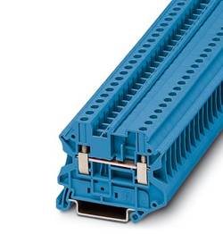 Bloc de jonction simple Phoenix Contact UT 4-MTD BU 3046197 bleu 50 pc(s)