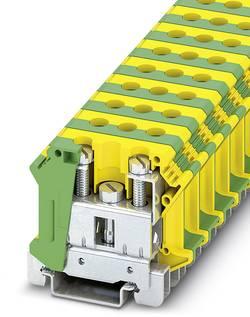 Bloc de jonction pour conducteur de protection d'installation Phoenix Contact UTI 35-PE 3074091 vert-jaune 50 pc(s)