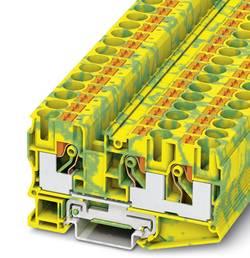 Bloc de jonction pour conducteur de protection Phoenix Contact PT 10-TWIN-PE 3208745 vert-jaune 50 pc(s)