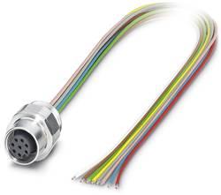 Connecteur femelle encastrable pour capteurs/actionneurs Conditionnement: 1 pc(s) Phoenix Contact SACC-EC-M12FS-8CON-PG