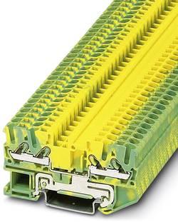 Bloc de jonction simple Phoenix Contact DT 2,5-QUATTRO-PE 3034073 vert-jaune 50 pc(s)