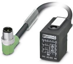 Connecteur confectionné 0.30 m Phoenix Contact SAC-3P-MR/ 0,3-PUR/BI-1L-Z SCO 1435182 M12 mâle coudé - Connecteur d'élec