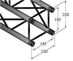 Traverse 4 points 150 cm Alutruss DECOLOCK DQ4-1500