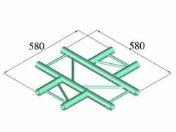 Traverse 2 points pièce en croix 90 ° Alutruss DECOLOCK DQ2-PAC41H
