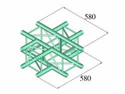 Traverse 4 points pièce en croix 90 ° Alutruss DECOLOCK DQ4-PAC41