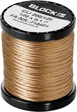 Fil de cuivre émaillé Ø ext. avec isolant=0.10 mm 15 x 0.1 mm 1