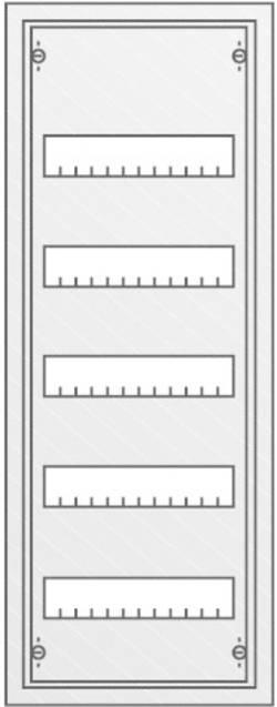 Coffret électrique en saillie Striebel & John AT51 30124 Nbr d'emplacements total=60 Nbr de rangées = 5