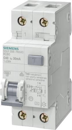 Interrupteur différentiel Siemens FI-/Leitungsschutzeinr. Typ A 5SU1356-6KK16 1 pôle 16 A 230 V