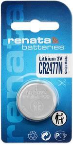 Pile bouton CR 2477N lithium Renata 950 mAh 3 V 1 pièce