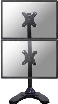 """Support sur pied pour écran NewStar FPMA-D700DDV 25,4 cm (10"""") - 68,6 cm (27"""") inclinable + pivotable, rotatif noir"""