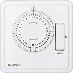 Programmateur horaire pour montage encastré analogique Suevia 248.024.9.084 programme journalier 2200 W IP20