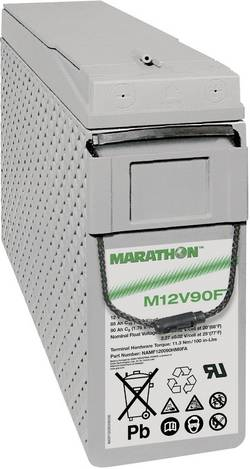 Batterie au plomb 12 V 86 Ah GNB Marathon M 12 V 90 FT plomb (AGM) (l x h x p) 105 x 270 x 395 mm raccord à vis M6 sans
