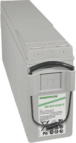 Batterie au plomb 12 V 100 Ah GNB Marathon M 12 V 105 FT plomb (AGM) (l x h x p) 110 x 238 x 511 mm raccord à vis M6 san