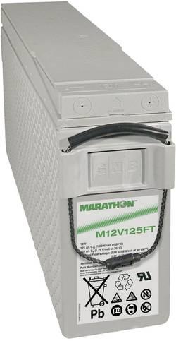 Batterie au plomb 12 V 121 Ah GNB Marathon M 12 V 125 FT plomb (AGM) (l x h x p) 124 x 283 x 559 mm raccord à vis M6 san