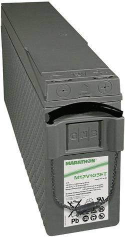 Batterie au plomb 12 V 100 Ah GNB Marathon M 12V 105 FT UL94 plomb (AGM) (l x h x p) 110 x 238 x 511 mm raccord à vis M6