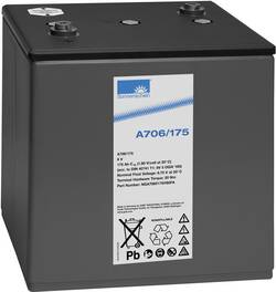 Batterie au plomb 6 V 175 Ah GNB Sonnenschein 6V 5 OGiV 160 plomb-gel (l x h x p) 285 x 327 x 232 mm raccord à vis M6 sa